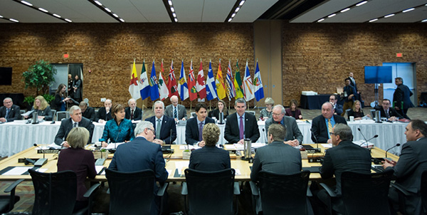 First Ministers' Meeting in March 2016 (Photo: Adam Scotti, PMO)