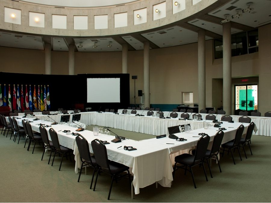 Photo of a conference room